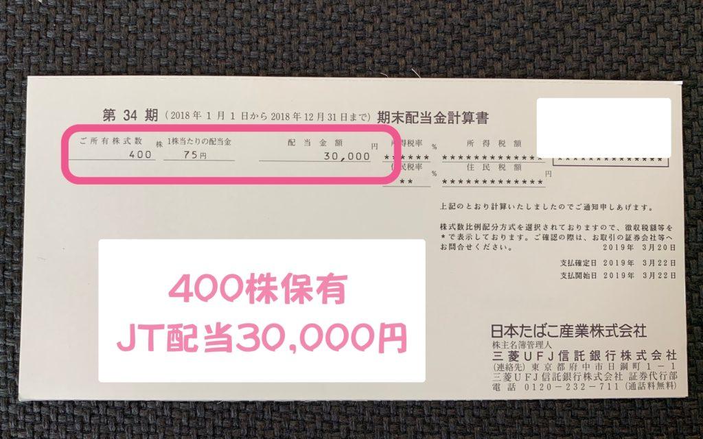 日本たばこ産業 配当